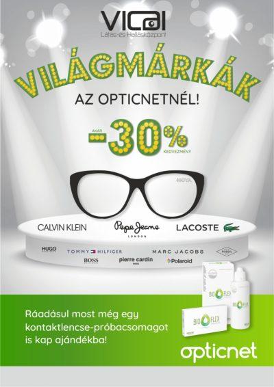 Komplett szemüveg akár 30% kedvezménnyel. Ráadásul új szemüvege mellé most egy havi kontaktlencse készletet is ajándékba kap!