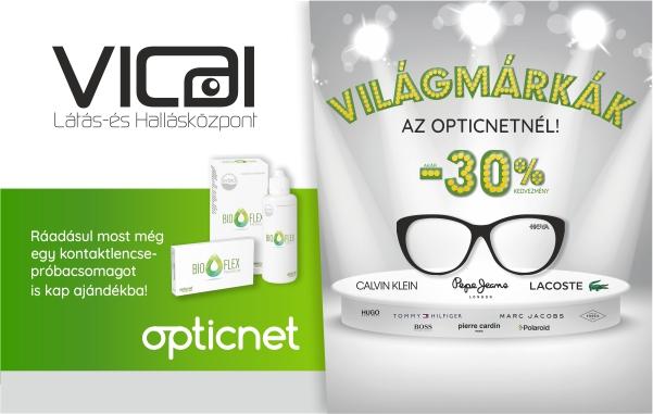 ... Komplett szemüveg akár 30% kedvezménnyel Ráadásul új szemüvege mellé  most egy havi kontaktlencse készletet is ajándékba kap! Az akció  időtartama  2018. ... b34ea930ab