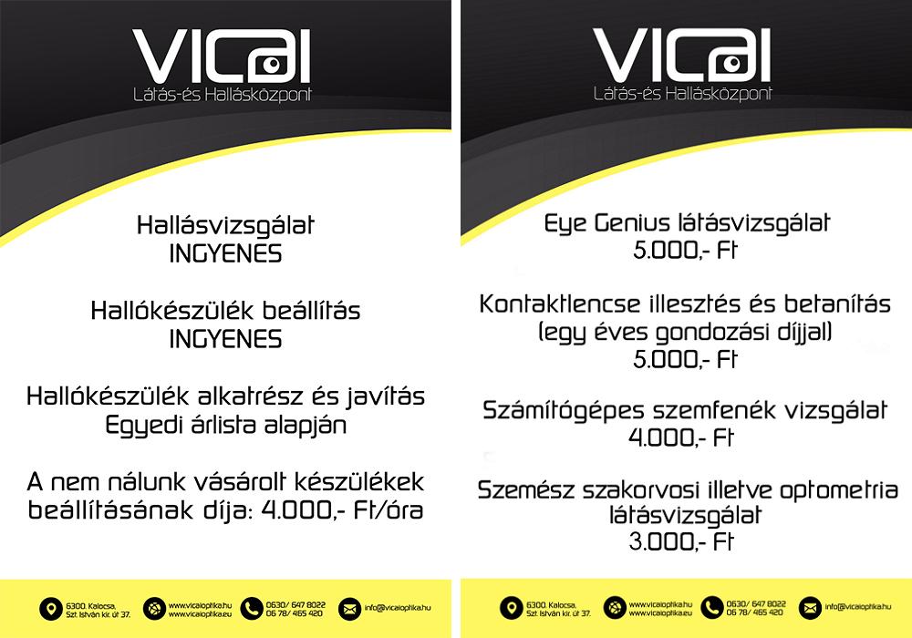Vicai Optika KalocsaÁrjegyzék - Vicai Optika Kalocsa d040d5d0c3