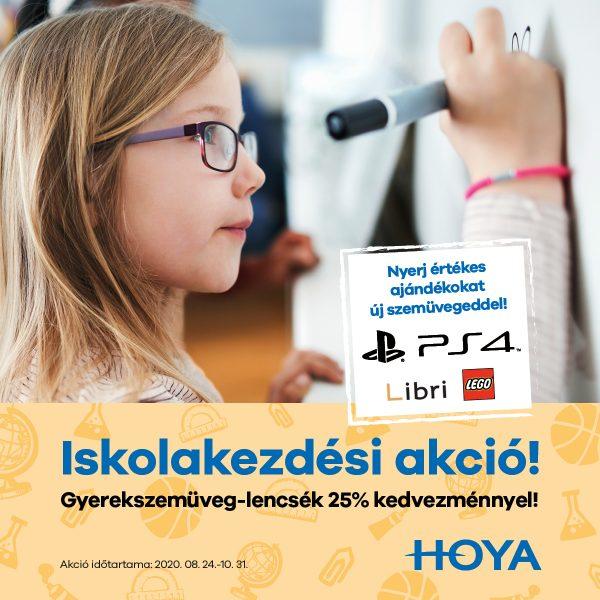 Hoya Kids szemüveglencsék 25% kedvezménnyel + AJÁNDÉK sorsjegy  minden pár Hoya Kids lencse mellé!