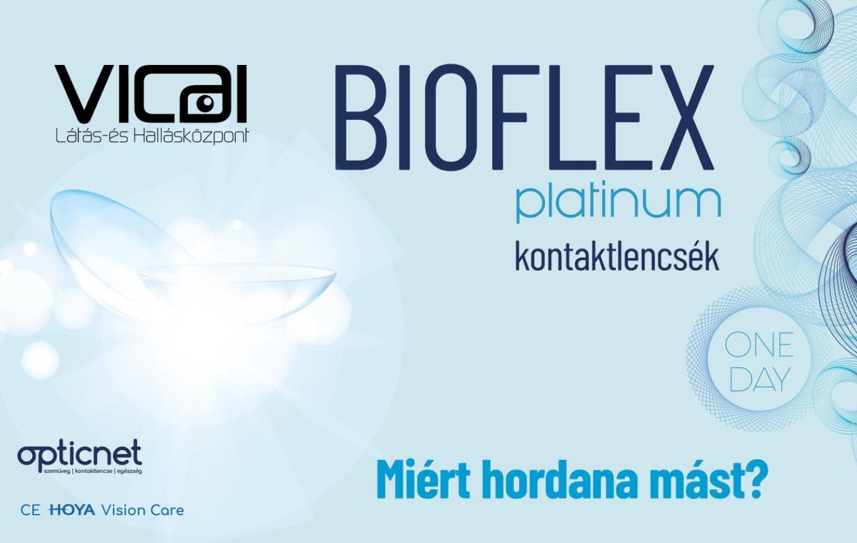 Új BIOFLEX PLATINUM One Day kontaktlencsék csak az Opticnet partnereknél, Kalocsán kizárólag a Vicai Látás- és Hallásközpontban elérhetőek.